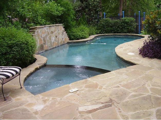 Central mississippi pool and spa builder project gallery for Pool design jackson ms